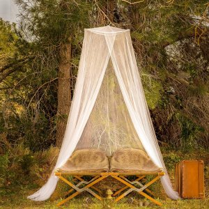EVEN Naturals® Mosquito Net Double Bed Conical Curtains Screen Netting Insect Malaria Zika Repellent Money-back Guarantee Free Carry Pouch, Hanging Kit & eBook Home & Travel