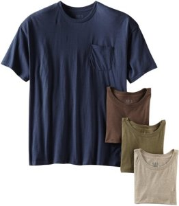 Fruit of the Loom Men's 4 Pack Pocket Tee