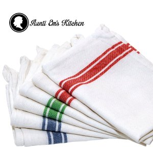 Kitchen Dish Towels with Vintage Design for Kitchen Decor Super Absorbent 100% Natural Cotton Kitchen Towels (Size 25.5 x 15.5 inches)