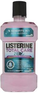 Listerine, Total Care Anticavity Mouthwash Zero, 1 liter