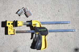 Lowell Thomas Tool 1096 JackClamp Spreader Jaw Kit, BlackYellowSteel