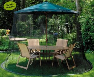 Mesh Mosquito Net Enclosure - Fits over a 9' Patio Umbrella