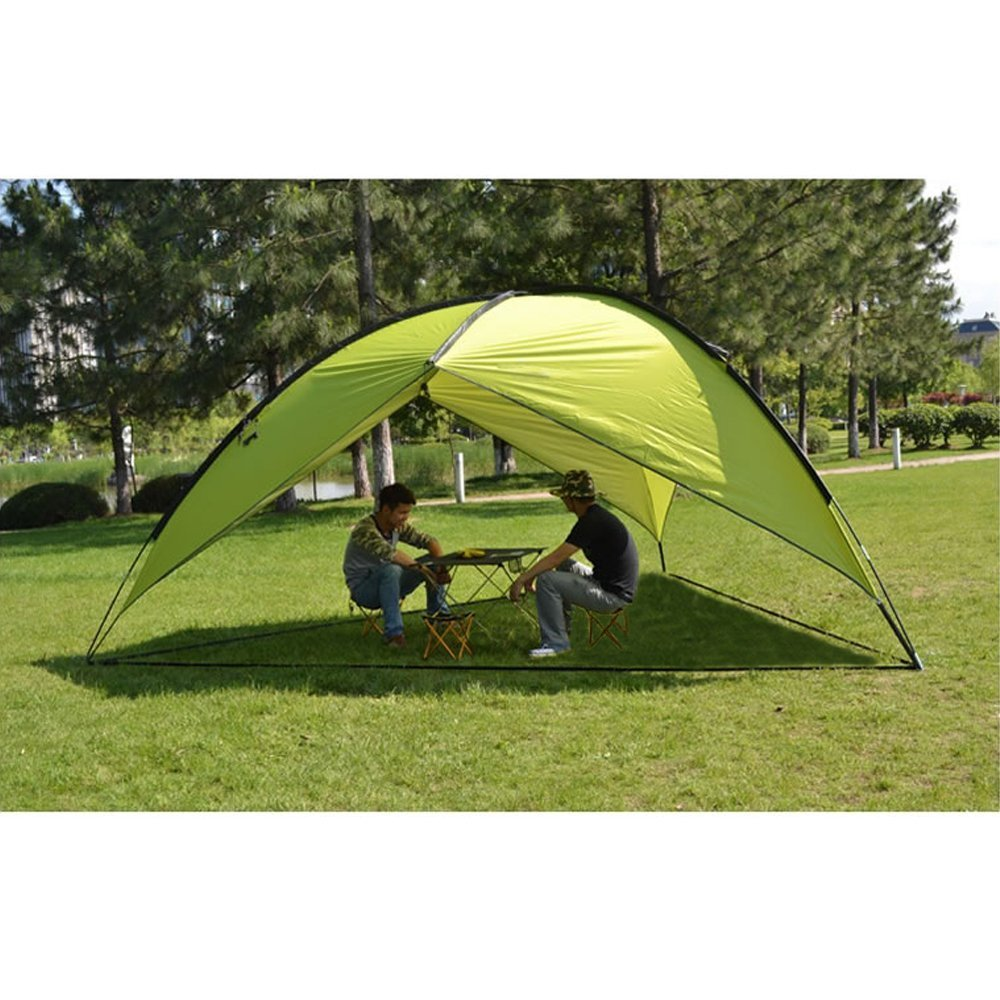 Oxking Outdoor 5-8 Person Beach Canopy Tent Large Triangular POP UP Sun C&ing Fishing  sc 1 st  Ey Yaa & Top 10 best camping sun shelters
