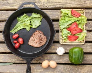 Pre Seasoned Cast Iron Skillet - 12 ½ Inches Diameter and 2 ¼ Inches Depth