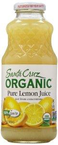 Santa Cruz Juice, Lemon, 100% Organic, 16 oz