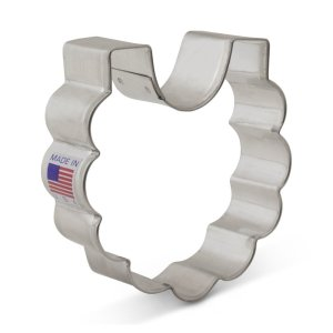 Ann Clark Baby Bib Cookie Cutter - 3 Inches - Tin Plated Steel