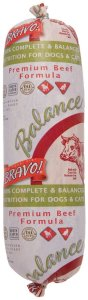 Bravo Beef Blend Frozen Dog Food, 2-Pound Chub