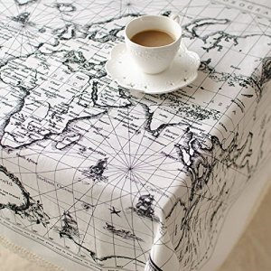 CJ Fashion Map Printed Lace Table Cloth Square Christmas D¨¦cor Table Cover Cheap