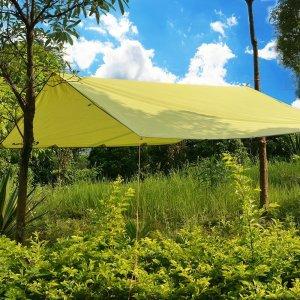 Camping Tent Tarps, ODOLAND Sunshade Tarp Shelter Beach Shelter Waterproof,