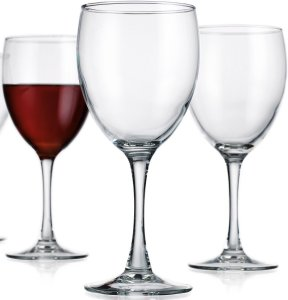 Circleware Vine Red white Wine Glasses Set, 11 Ounce, Set of 4 Goblets, Limited Edition Glassware Serveware Drinkware Drinking Glasses cups
