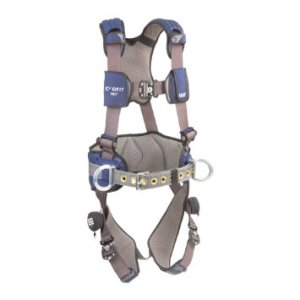 DBISala ExoFit NEX, 1113124 Construction Harness, Alum BackSide D-Rings, Locking Quick Connect Buckles, Sewn In Hip Pad & Belt, Med, BlueGray