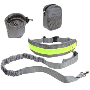 Dog Leash, PYRUS Hands Free Dog Leash Reflective Traction Kit Waist Leashes Perfect for Hands Free Walking