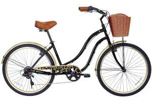 Gama Bikes Women's Boardwalk Step-Thru 6 Speed Shimano Urban Cruiser Commuter Bicycle, 26-inch wheels, Ivory