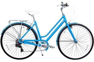 Gama Bikes Women's Metropole Step-Thru 8 Speed Shimano Hybrid Urban Cruiser Commuter Road Bicycle, 700c wheels