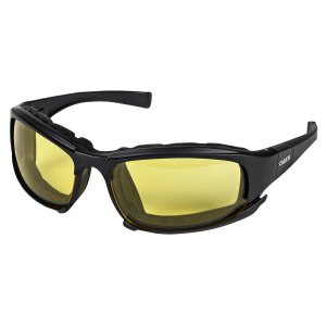 Jackson Safety Calico Safety Eyewear V50 (25674), Amber Anti-Fog Lens with Interchangeable Temples and Head Strap