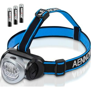 LED Headlamp Flashlight with Red Light