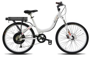 ProdecoTech Stride 500 W V5 36V500W 8 Speed Electric Bicycle 11Ah Samsung Li-Ion, Pearl White, 18One Size
