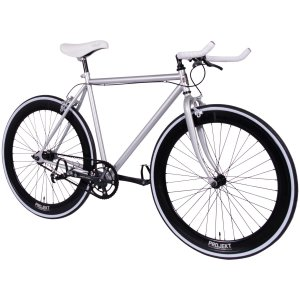 Projekt Silver Fixie Bike 700c Single-Speed track bicycle with flip-flop hub