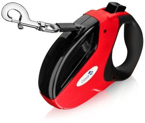 Retractable Dog Leash Tangle Free. Can Extend up to 16 Ft. Made With Heavy Duty Nylon Ribbon & Works Great for Small Medium & Large Dogs