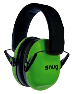 Snug Safe n Sound Kids Earmuffs Hearing Protectors - Adjustable Headband Ear Defenders For Children and Adults (Green)