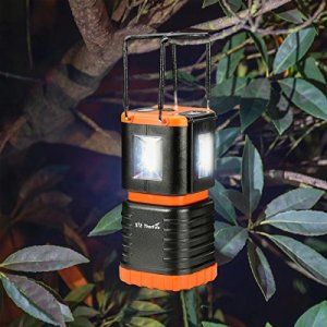 ThorFire LED Camping Lantern Bright Flashing Light Features 2 Detachable Mini Handy Flashlight
