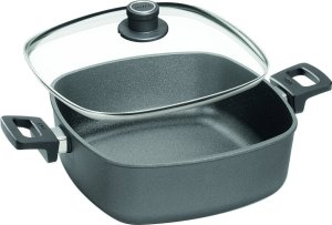 Woll Nowo Titanium 6.3-Quart Square Casserole Pan with Side Handles and Lid