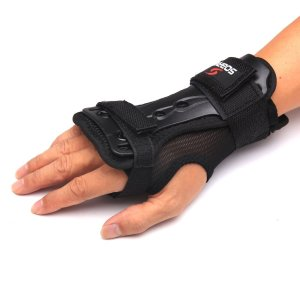 Andux Ski Gloves Extended Wrist Palms Protection Roller Skating Hard Gauntlets Adjustable Skateboard Gauntlets Support HXHW-01