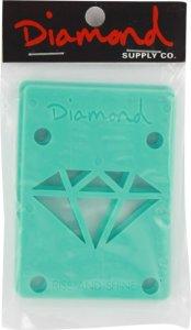 Diamond 18 Risers Diamond Blue Single Set Skateboarding Risers Pads