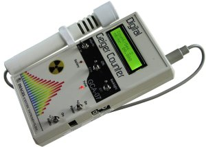 GCA-07W Professional Geiger Counter Nuclear Radiation Detection Monitor with Digital Meter and External Wand Probe - NRC Certification Ready- 0.001 mRhr Resolution -- 1000 mRhr Range