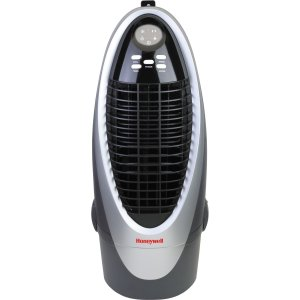 Honeywell CS10XE 21 Pt. Indoor Portable Evaporative Air Cooler with Remote Control, SilverGrey