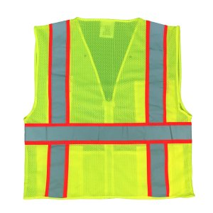 KwikSafety Class 2 High Visibility Ultra Cool Mesh Surveyor Safety Vest with Reflective Strips & Pockets, Construction, Motorcycle, Bike Safety, Public Safety,