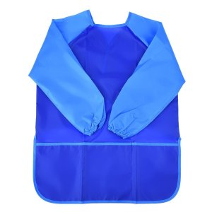Mudder Long Sleeve Children's Art Smock, Waterproof Painting Apron (Blue)