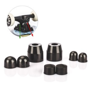 Tera 1Pair of PU Skateboard Truck Bushings with Pivot Cups Set SHR-92A Black for 5 7 3.5 Skateboard Trucks