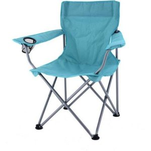 Turquoise Deluxe Folding Camping Arm Chair