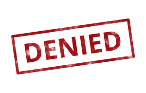 denied word in red
