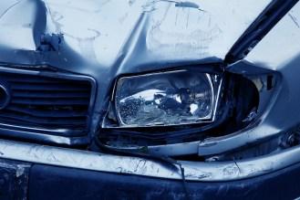 car headlight that is damaged