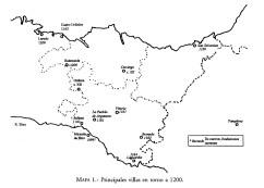 Principales villas en torno a 1200