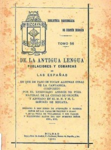 Acerca de la obra lingüística y filológica: «De la antigua lengua, poblaciones y comarcas de las Españas» (1857)