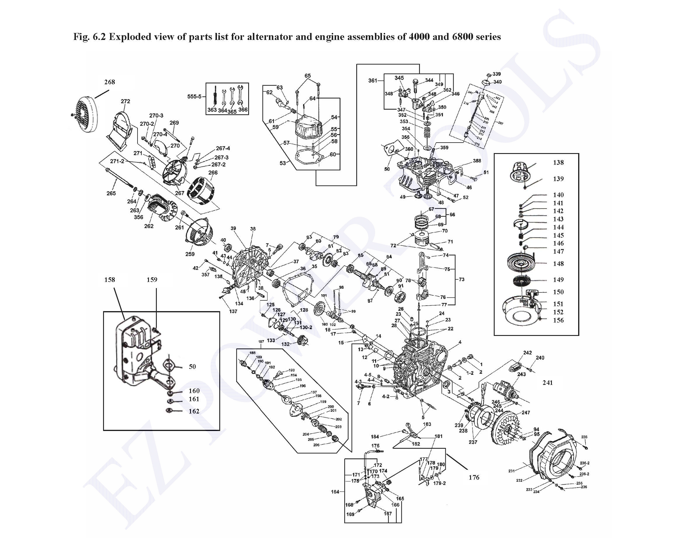 Color Owner S Manual 178f 178fe 186f 186fe 186fa 186faesel Engine Generator Auctions