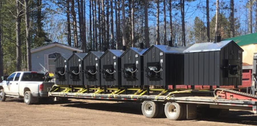 Seven Ezboilers loaded and ready for delivery.