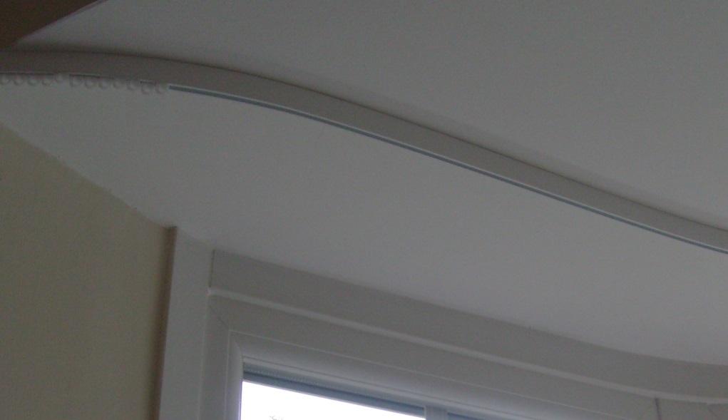 bay window curtain tracks that look