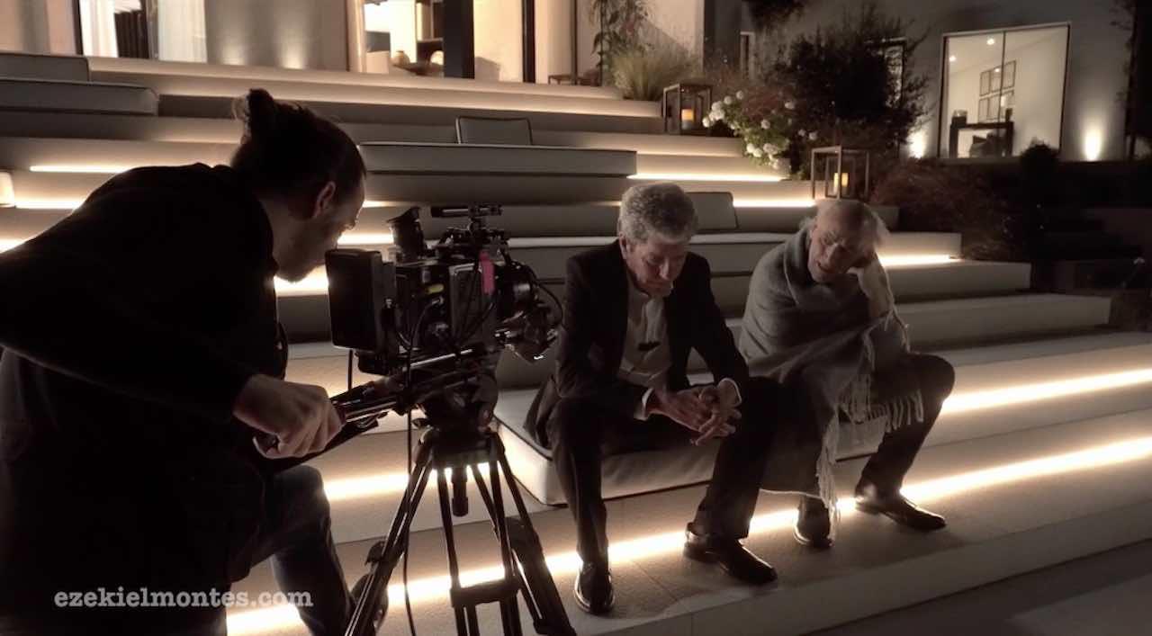 Ezekiel Montes durante el rodaje de Hombre muerto no sabe vivir