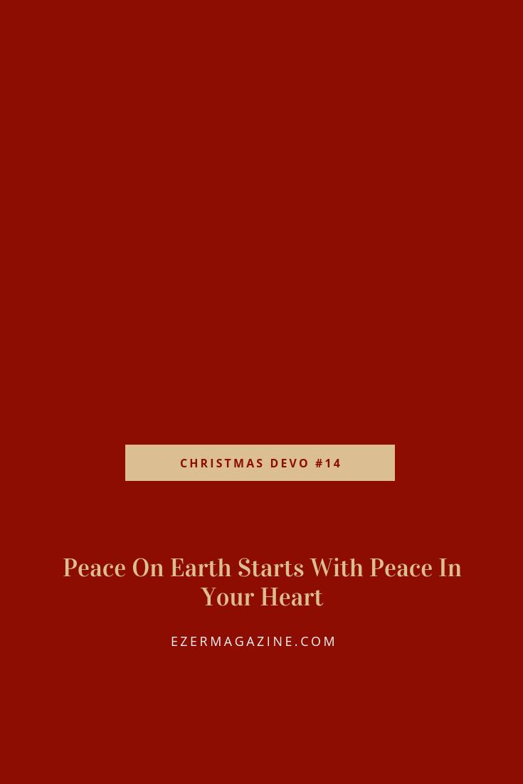 christmas devotional - peace on earth