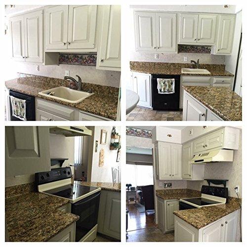 ez faux decor self adhesive gold granite waterproof wallpaper countertop update not paint