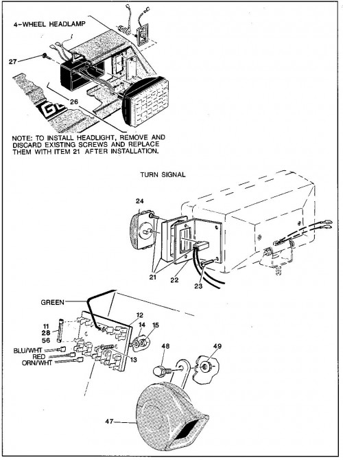 1992 Electric 11_Horn and Accessory Wiring_2?resize=500%2C670 1992 ez go golf cart wiring diagram wiring diagram,1992 Ezgo Electric Golf Cart Wiring Diagram
