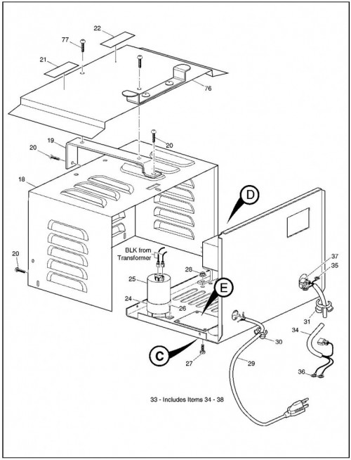 2002 Electric 3_Battery Charger On Board_2?resize=500%2C654 36 volt battery charger wiring diagram wiring diagram,Golf Cart Charger Wiring