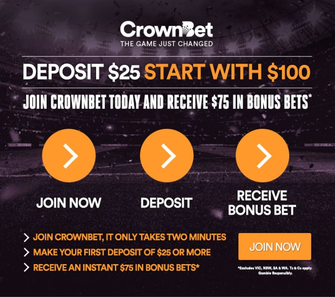 How to win on the CrownBet $25 - $75 Bonus Offer