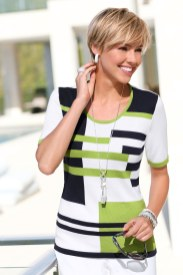 Go Green with green clothes: Capture European Stripe Detail Top