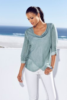 Dreaming of Summer with a mint cowl neck style 145249