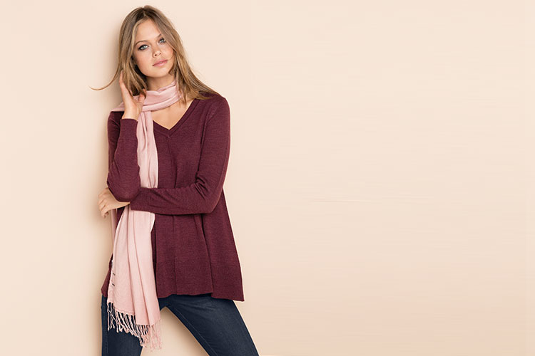 Layering with Scarves! Wear them and layer up with your winter knits. Style 149677 and 149504